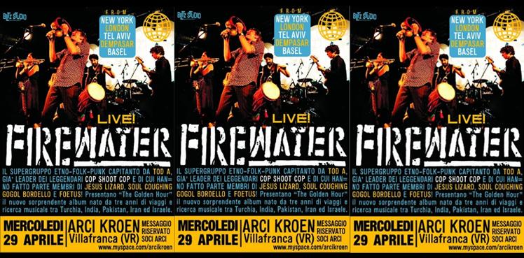 firewater live kroen copertina